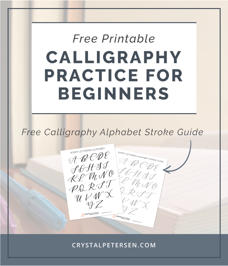Free Calligraphy Alphabet Printable Crystal Petersen